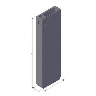Вентиляційний блок ВБ 4-30-1 ТМ «Бетон від Ковальської» 910х400х2980 мм