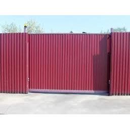 Автоматичні відкатні ворота з профнастилу