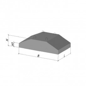 Фундаментна подушка ФЛ 32.12-2 ТМ «Бетон від Ковальської»