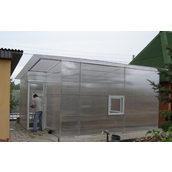 Теплица из поликарбоната 5,5х6,5 м прозрачная