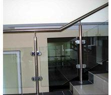 Перило из нержавеющей стали со стеклом 10 мм