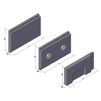 Теплокамера зі збірних елементів КС-3 3300*1050*200 мм