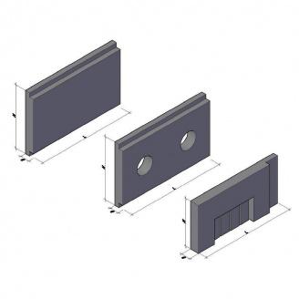Теплокамера зі збірних елементів КС-6 4500*1050*200 мм