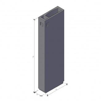 Вентиляційний блок ВБ 4-28-2 910*400*2780 мм