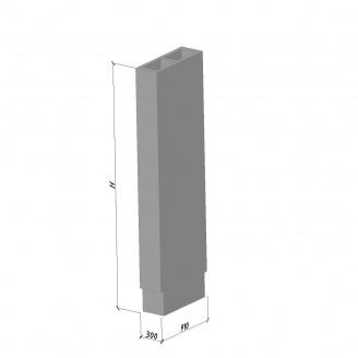 Вентиляційний блок ВБС-28-1 630*300*2780 мм