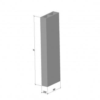 Вентиляційний блок ВБС-33 630*300*3280 мм