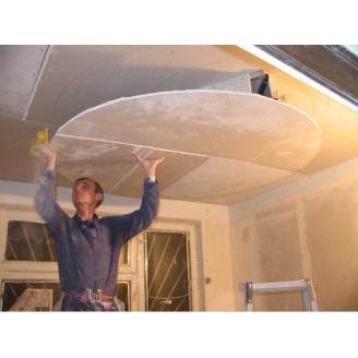 Монтаж подвесного потолка из листового гипсокартона
