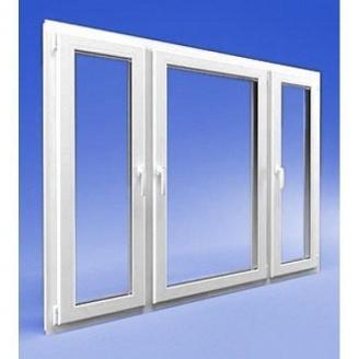Трехстворчатое окно из профиля VIKNAROFF Fenster 400 2030x1400 мм