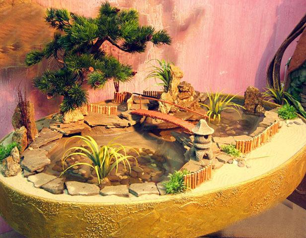 Открытый миниатюрный сад