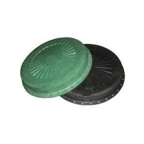 Люк пластмасовий легкий №3 3 т з замком зелений (13.07.1)