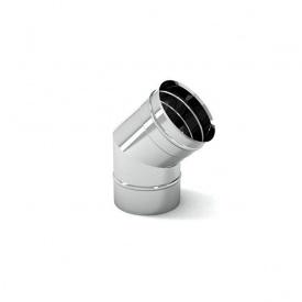 Колено дымохода нержавеющее 45 градусов 0,8x200 мм