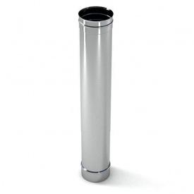 Труба дымохода в кожухе из нержавеющей стали 170х1000 мм 0,8 мм