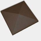 Оголовок для ограждения CRH 95 мм коричневый