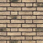 Клинкерный кирпич ручной формовки Muhr 70 creme grau Sagemehl gesintert 210x100x50 мм