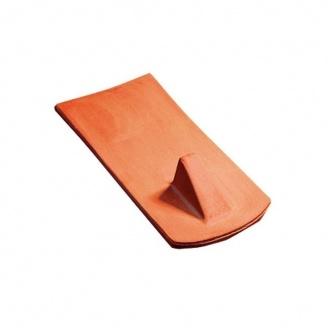 Керамическая черепица снегозащитная Tondach Бобровка ОК Австрия 400х190 мм коричневая