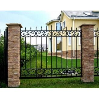 Металлический кованый забор
