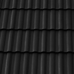 Черепиця керамічна снігозахисна Tondach Твіст Угорщина 300х500 мм чорна