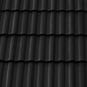 Керамическая черепица боковая левая Tondach Твист 300х500 мм черная