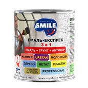 Эмаль-экспресс SMILE 3в1 антикоррозионная молотковый эффект 0,7 кг коричневый