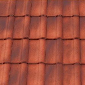 Черепица керамическая вентиляционная Tondach Румба Венгрия 300х500 мм красный антик