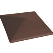 Крышка на забор King Klinker 445х585х108 мм коричневая