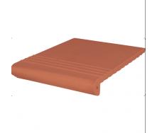 Ступень клинкерная King Klinker Antyczna рифленая 330x330x16 мм красная