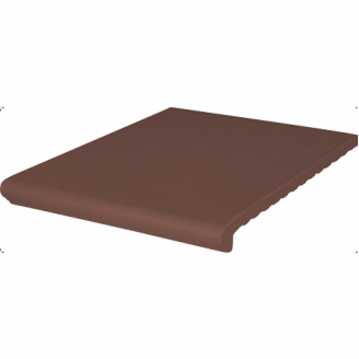 Ступень клинкерная King Klinker Wenecka гладкая 330x330x14 мм коричневая