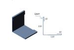 Планка наружного угла САВ ПНУ-01 полиэстр матовый 2000х220 мм
