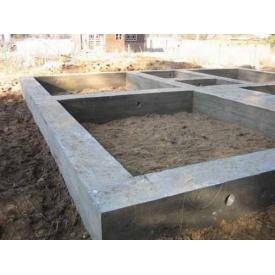 Устройство сборного фундамента из бетонных блоков