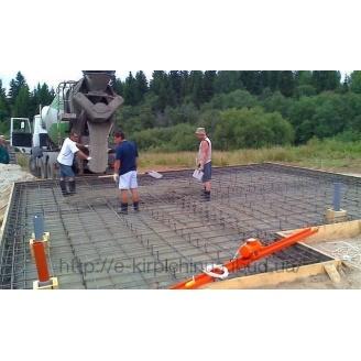 Заливка плиты фундамента монолитной