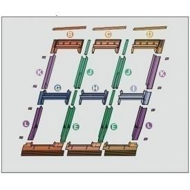 Оклад Roto EDR 3х2 для комбинированных установок из нескольких окон 74х140 см