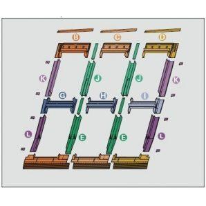 Оклад Roto EDR 3х2 для комбинированных установок из нескольких окон 54х118 см