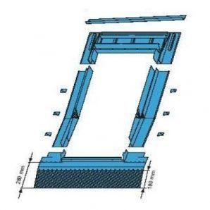 Оклад Roto EDR HZI для высокопрофильных покрытий 74х160 см