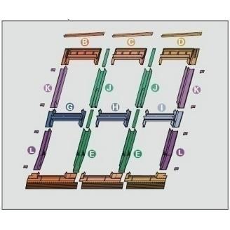 Оклад Roto EDR 3х2 для комбинированных установок из нескольких окон 94х118 см