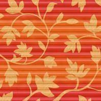 Плиссированная штора Roto ZFA 114х140 см оранжевые цветы D-143