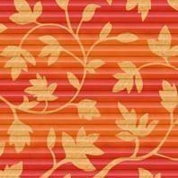 Плиссированная штора Roto ZFA 74х98 см оранжевые цветы D-143