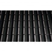 Черепиця керамічна вентиляційна Tondach Самба Чехія 277х465 мм чорна