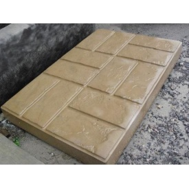 Плита дорожная Мрамор из бетона 8x50x75 см