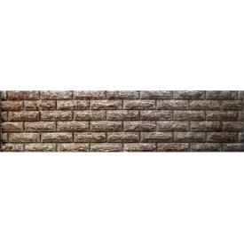 Секция еврозабора глухая Колотый кирпич 0,5x2 м