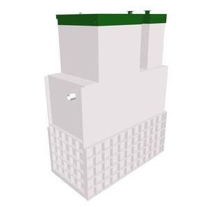 Автономная канализация ТОПОЛ-ЭКО ТОПАЭРО 3 Long Ус 2,0x1,2x3,1 м