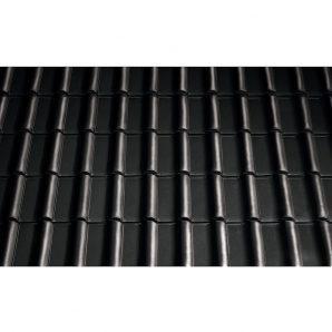 Черепица керамическая вентиляционная Tondach Самба Чехия 277х465 мм черная