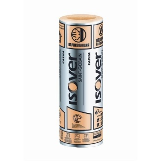 Стекловолокно ISOVER Сауна 50x1200x12500 мм