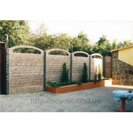 Бетонный забор Мрамор из бетона 2x0,5 мм