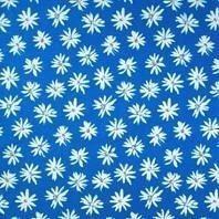Солнцезащитная штора Roto Exclusiv ZRE 74х160 см голубые маргаритки A-208