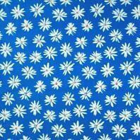 Солнцезащитная штора Roto Exclusiv ZRE 74х98 см голубые маргаритки A-208