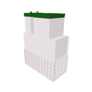 Автономная канализация ТОПОЛ-ЭКО ТОПАЭРО 3 Long Пр Ус 2,0x1,2x3,1 м