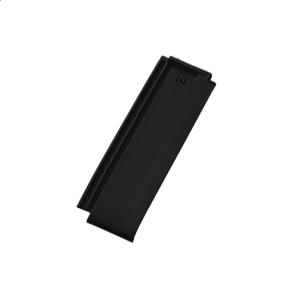 Керамическая черепица половинчатая Tondach Фигаро Делюкс Австрия 424х120 мм черная