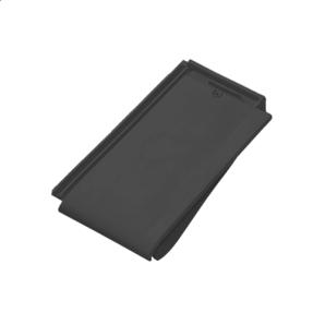 Черепица керамическая боковая правая Tondach Фигаро Делюкс Австрия 424х241 мм черная