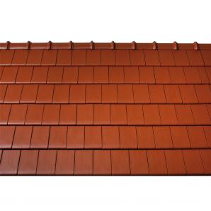 Черепица керамическая боковая правая Tondach Фигаро Делюкс Австрия 424х241 мм медно-коричневая