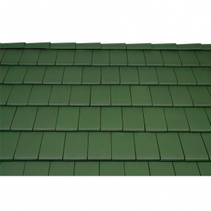 Черепица керамическая боковая левая Tondach Фигаро Делюкс Австрия 424х241 мм темно-зеленая
